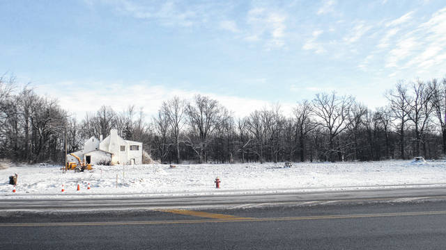 The site of Genoa Township's new police station is being cleared along State Route 3 and Big Walnut Road.