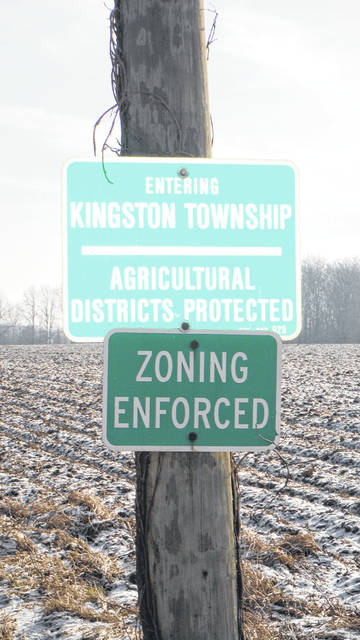 This sign, off of 3 Bs & K road, says you are entering Kingston Township.