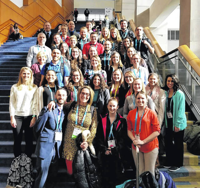 YSU students and faculty attended a physical therapy conference recently.