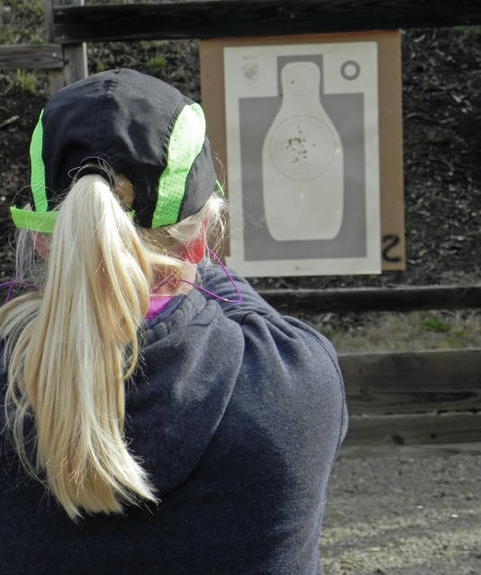 Larry S. Moore | News-Current Many ladies attended the Blast event and proved to be very good shooters as this target shows.