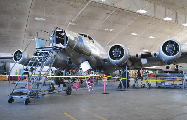 Whitney Vickers   News-Current The National Museum of the United States Air Force has been restoring a B-17F Memphis Belle since 2005 but is now less than one year from being presented to the public. Restoration specialists installed a tail turret July 26. It will later be moved to the museum's WWII gallery, where it will open for public display in May 2018.