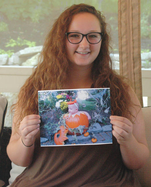Scott Halasz | News-Current Beavercreek resident Kaylee Berro was born addicted to eight narcotics. When she was younger, her adoptive parents put her in a pumpkin to try and encourage any type of brain stimulation they could.