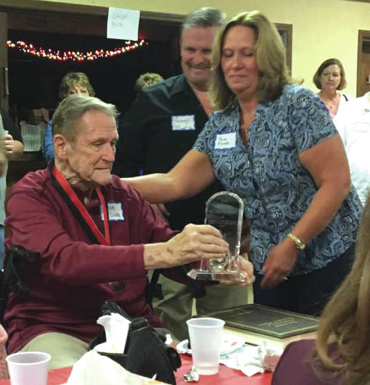 Submitted photo Ben O'Diam receiving his lifetime achievement award.