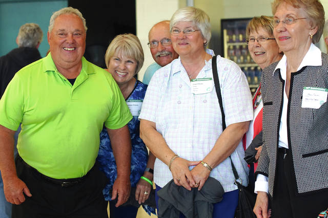 Barb Slone | News-Current Alumni and retired teachers along with current students and staff celebrate 50 years for the Greene County Career Center at the anniversary celebration and all-class reunion Sept. 15 on campus.