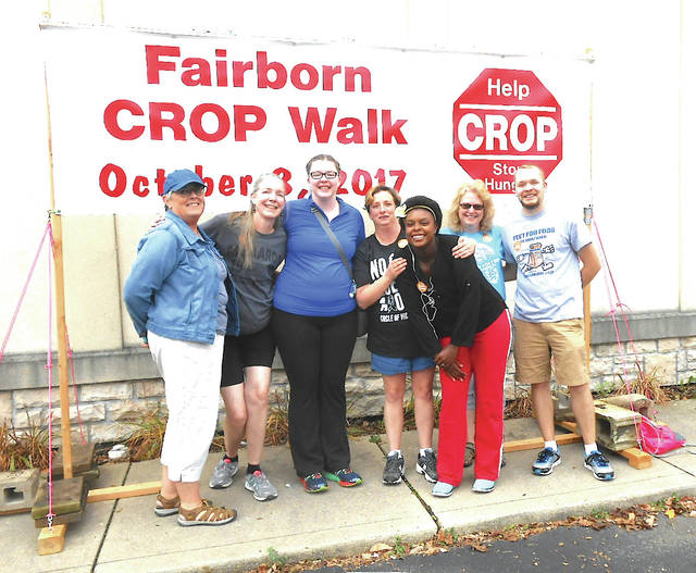 Submitted photos Fairborn United Methodist Church CROP Walk participants.