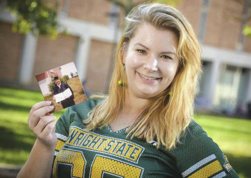 Submitted photo Erica Curtis, who graduated in December with a bachelor's degree in psychology, is the third member of her family to attend Wright State.