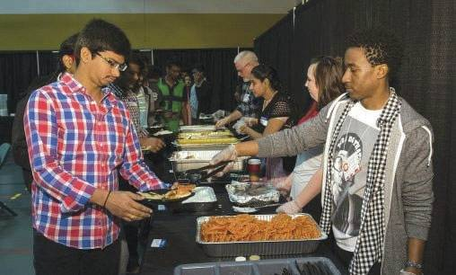 Submitted photo All students, staff, faculty and alumni are invited to Raidersgiving 12-2 p.m. Thursday, Nov. 23 in the Wright State Nutter Center's McLin Gym.