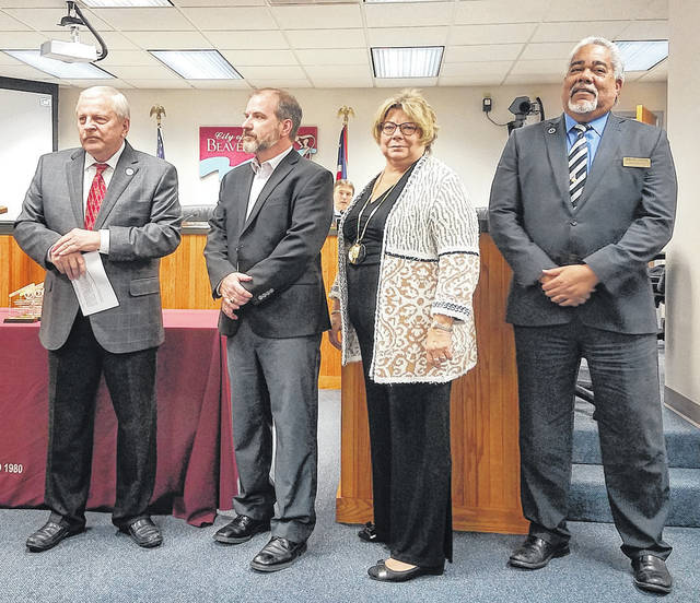 Danielle Coots   News-Current City officials say goodbye to leaving council members Chad Whilding, Debborah Wallace and Brian Jarvis.