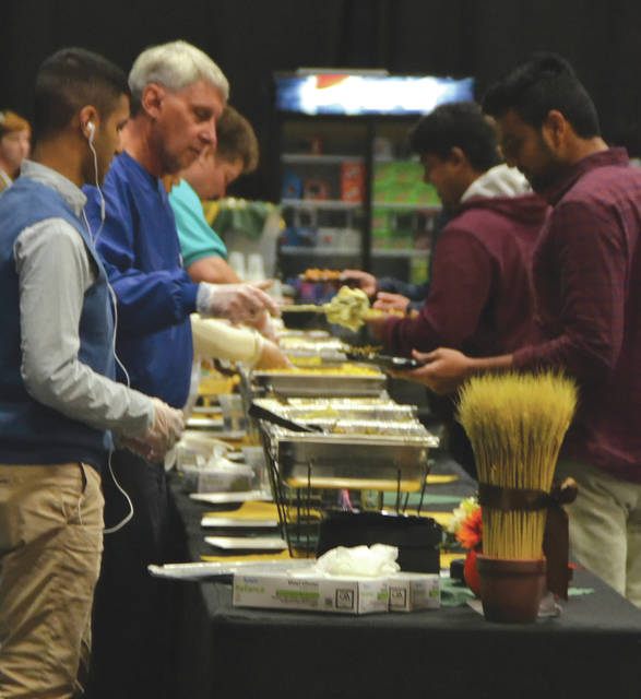 Submitted photos More than 200 individuals gathered for Wright State University's Raidersgiving Nov. 23. The event invited Wright State community members to enjoy a feast made up of traditional Thanksgiving meal items.
