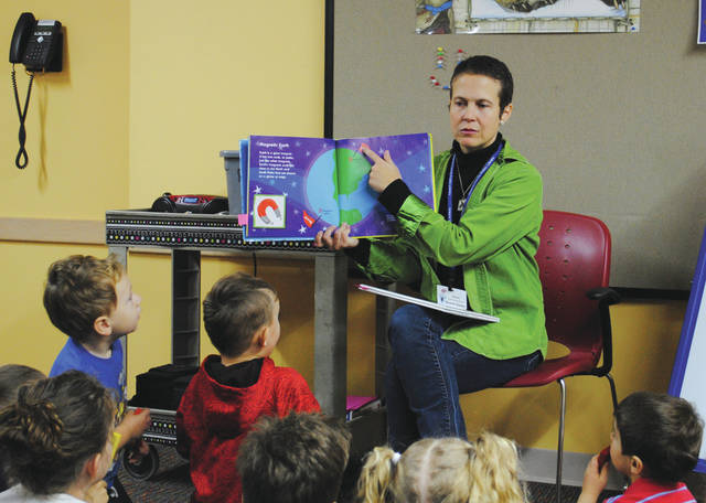 Whitney Vickers | News-Current The Fairborn Community Library hosted STEM Discoveries Jan. 11, which highlights a STEM-related topic for children aged 3-5 years old.