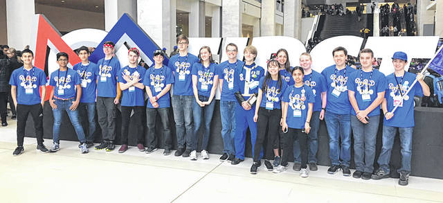 Submitted photos Beavercreek's Vault 6936 team competed in their first championship competition and placed 29th out of 67 in their division.