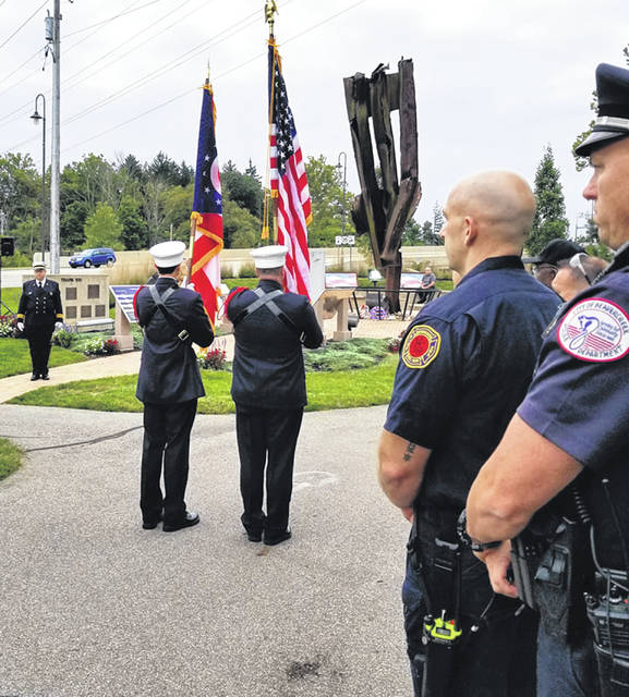 Submitted photos Beavercreek residents, law enforement and first responders hosted a small ceremony in honor of those who died on 9/11, 17 years ago.