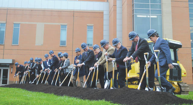 Whitney Vickers | Greene County News Soin Medical Center officials broke ground Sept. 10 on a 170,000 square-foot five-story tower.
