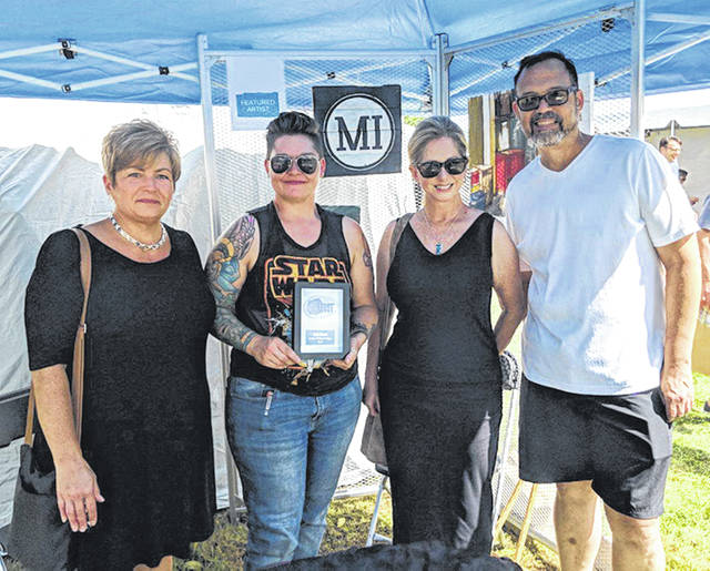 Submitted photos Jes McMillan was the featured artist during ArtFest 2018.