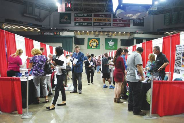 Whitney Vickers   Greene County News Ohio Means Jobs hosted its bi-annual job fair Sept. 19 at the Wright State University Nutter Center.