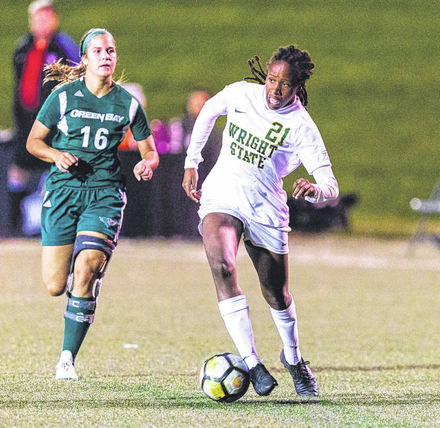 Submitted photo Naomie Guerra and the Raiders earn a conference point in a scoreless draw, Sept. 26, against Northern Kentucky.