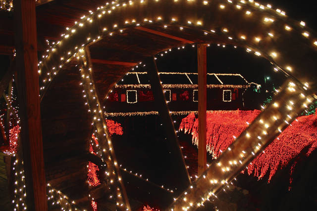 More than 4 million lights illuminate the mill and the gorge, including the covered bridge, riverbanks and trees. Visitors can see Clifton Mill's lights every night 6-9 p.m. through Monday, Dec. 31 at 75 Water Street. Gates open nightly 5 p.m. The gates close 8 p.m. on Christmas Eve, Christmas Day and New Year's Eve. Admission is $10; children 6 and under are free.