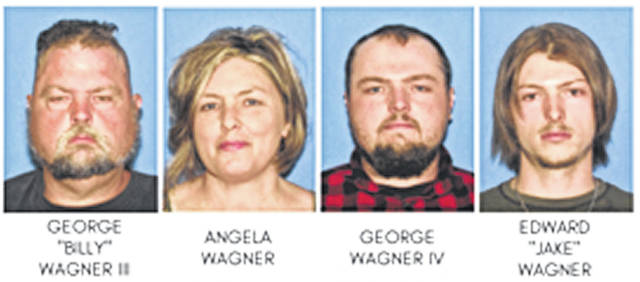 Submitted photos These four individuals from one family have been arrested in the murders of eight people in Pike County.