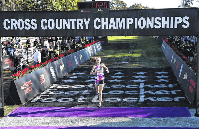 Taylor Ewert, a Beavercreek High School junior, was the fourth runner to cross the finish line Dec. 8 at the Foot Locker Cross Country Championships National Finals in San Diego.