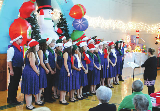 The Xenia High School Vocal Ensemble performed during the event.