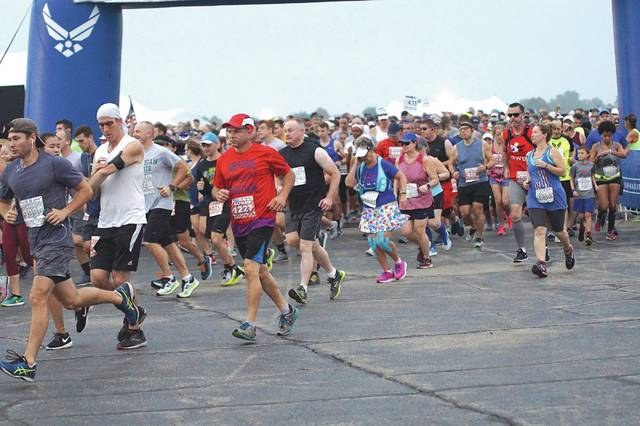 File photo Air Force Marathon registration opens Jan. 1. Prices from Jan. 1 through Jan. 3 will be $70 for the full marathon, $60 for the half marathon, $30 for the 10K, $20 for the 5K, $110 for the challenge series and $10 for the 1K kids race. Prices increase Jan. 4.