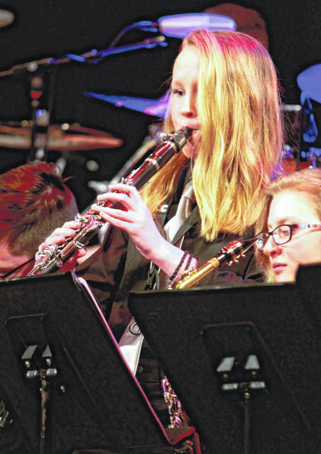 Anna Bolton | Greene County News Beavercreek students perform during Beavercreek Weekend of Jazz March 1, 2018 in Beavercreek High School's Alumni Auditorium.