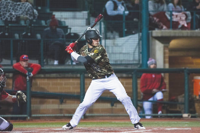 Photo courtesy of WSU Freshman Cameron Rountree (42) will be one of three catchers on the Wright State University team battling for the starting position. WSU is the pre-season favorite to repeat as Horizon League champions in 2019.
