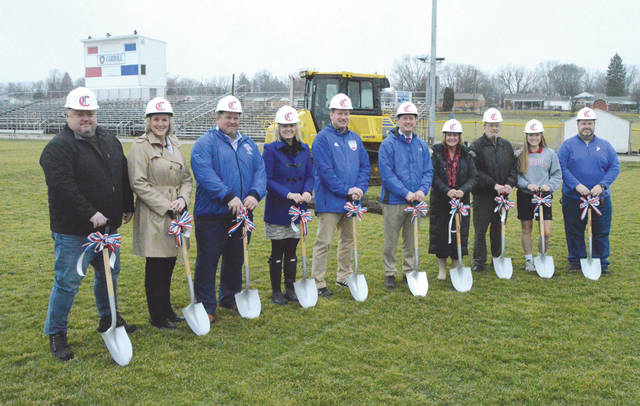 School officials broke ground at 11:01 a.m. Feb. 11 to kick off the creation of a $2.1 million artificial turf athletic field, at Carroll High School in Riverside.