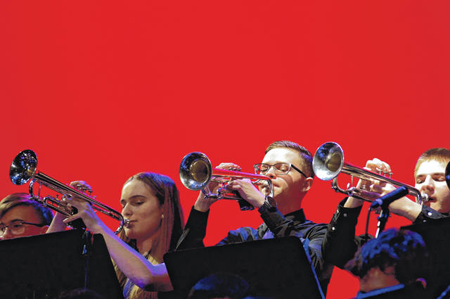 Barb Slone | Greene County News Students from Beavercreek High School Jazz Lab play during Beavercreek Band Night Feb. 28 in Beavercreek High School's Alumni Auditorium.