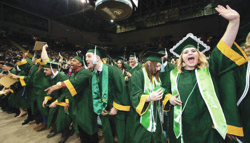 Submitted photo Wright State's 2019 fall commencement ceremony takes place 10 a.m. Saturday, Dec. 14, in the Wright State University Nutter Center.