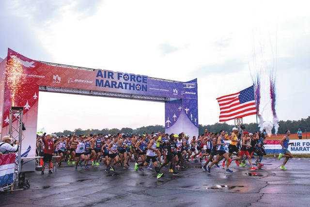 File photo Registration for the 24th Annual Air Force Marathon opens up at midnight Jan. 1.