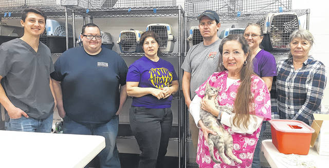 The Humane Society of Greene County reached a milestone this month when it treated the 8,000th cat at its monthly spay/neuter clinic.
