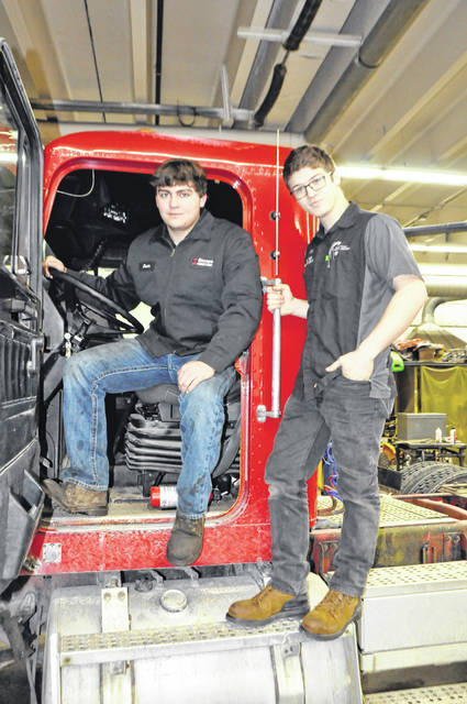 Photo courtesy GCCC Jason Mahaffey of Cedarville and Joe Osborne of Beavercreek recently placed second in the 2020 Ohio FFA District 9 Ag Power Diagnostics Career Development Event (CDE) at AG-PRO. The team will be competing in the FFA State CDE at the University of Northwestern Ohio Friday, March 6. Both are enrolled in the Power Equipment Mechanics program at Greene County Career Center. Mike Spahr is the program's instructor.