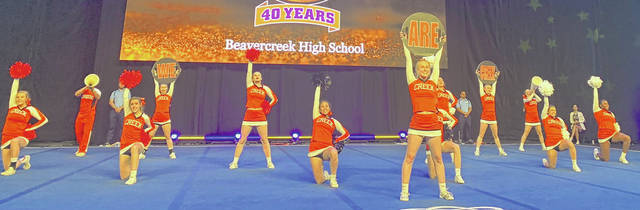Photos courtesy Beavercreek competition cheerleading team The Beavercreek High School competition cheerleading team finished seventh at the UCA national championships in Orlando recently. It was the fourth straight trip to Orlando for the squad.
