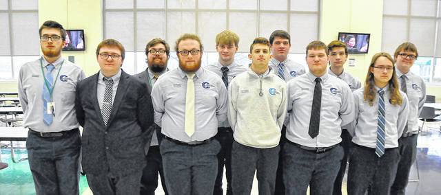 Junior IT students are, back row, left to right, Zachary Leggett, Elijah Adkins, Owen Wilson, Devin Horton, Wesley Stover and Austen Minnick. Front row - Damon Hughes, Andrew Bonza, Joshua Smith, Nicholas Lundy and Owen Edmonds.