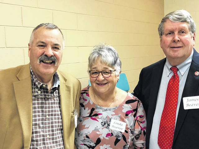 Greene County Retired Teachers President Linda Beaver, speaker ORTA Executive Director Robin Rayfield, and Vice President Jim Beaver at the March meeting of the GCRT.