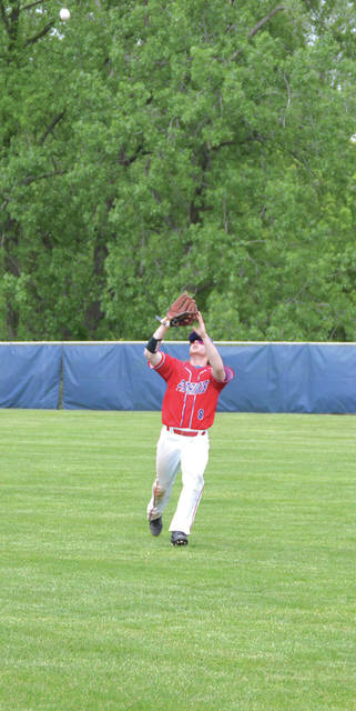 Mathew McMahan, shown here hauling in a fly ball last season, pitched a four-hit shutout in a win over Legacy Christian, on Wednesday.