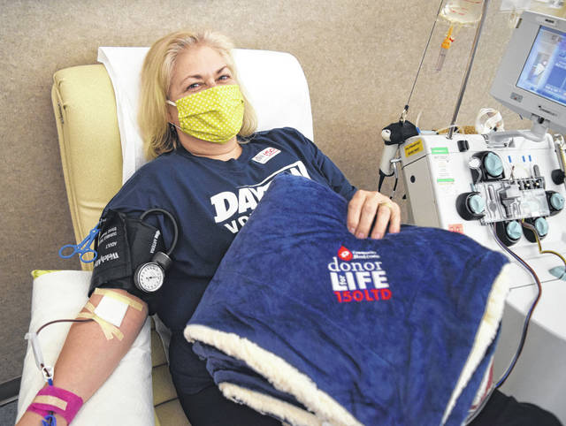 Submitted photo Barbara Handorf recently celebrated her milestone 150th lifetime blood donation.