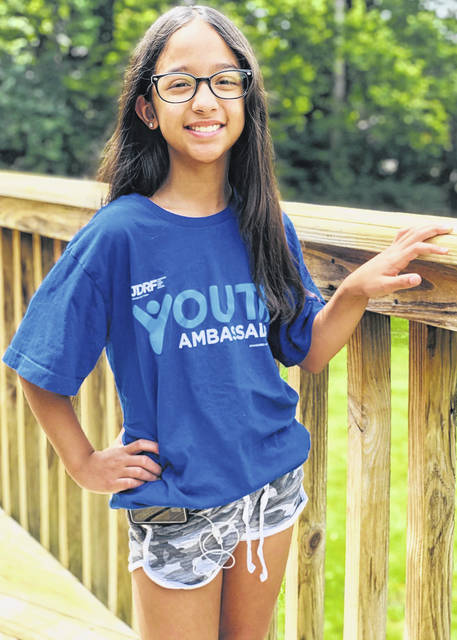 Submitted photo Julieta Jordt was chosen to be a member of the JDRF Youth Ambassador program for the 2020-2021 school year. She will help spread awareness about type 1 diabetes.