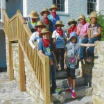 Elementary students participate in history camp