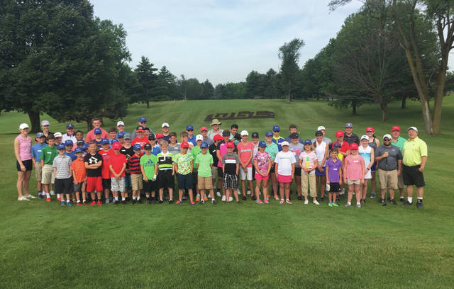 A total of 55 area boys and girls participated in the annual Miami Valley Junior Golf Association youth golf camp, which is held annually at WGC Golf Course in Xenia.