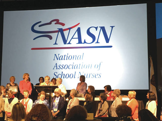Submitted photos Retired Fairborn City Schools Nurse Norma Nikkola was recently inducted as a fellow into the National Academy of School Nursing, held in San Diego, Calif.