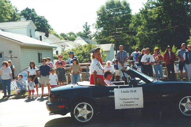 Submitted photo Linda Hall riding in Fairborn's Fourth of July parade in a previous year.