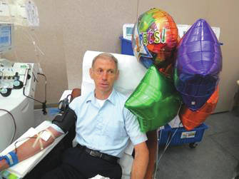 Submitted photo Larry Lapuh has donated blood 500 times.