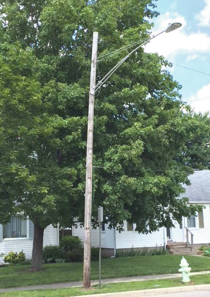 Submitted photos More than 200 light poles are in need of replacement throughout the City of Fairborn, including some along Broad Street, Central Avenue, Main Street and Kauffman Avenue, among other local roadways.