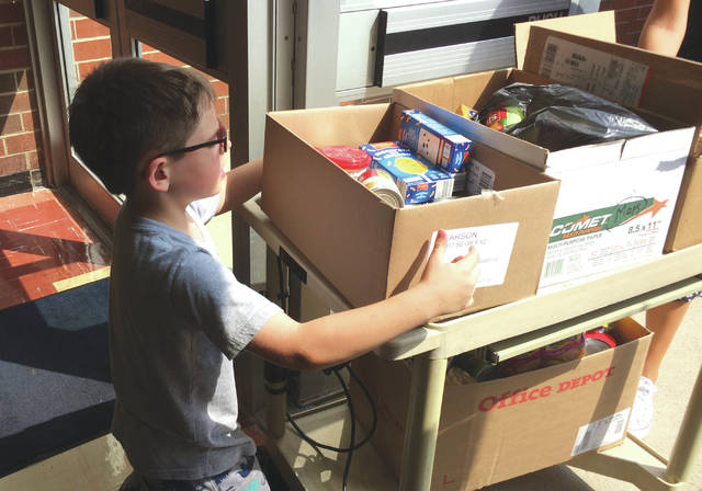 Fairborn Primary School students are involved in the food drive as well.