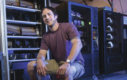 Submitted photo Jeff Thibodeau, who graduated from Wright State with a bachelor's degree in business marketing in 2007, founded Innovative Vending Solutions, which will supply a social media-activated vending machine as part of Homecoming Week.