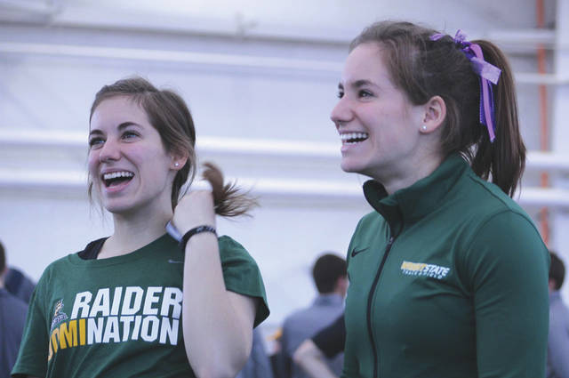 Submitted photo The Wright State women's cross country team twins include Victoria and Sophia Angelopoulos.