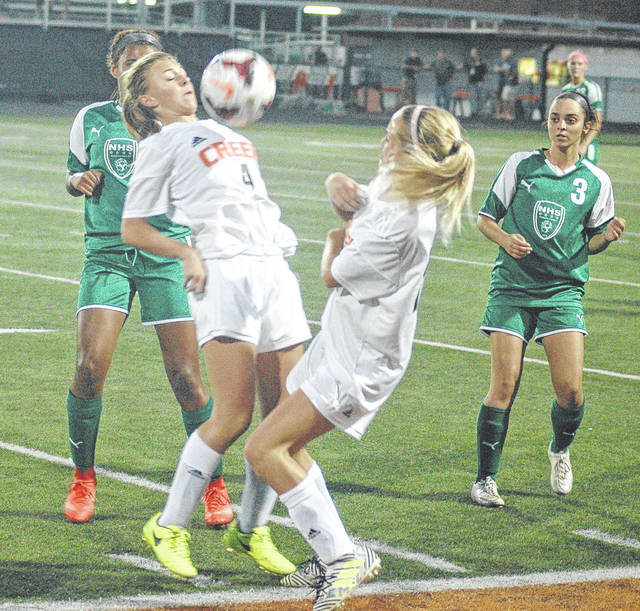 Beavercreek's Morgan Currier (4) takes a pass in this file photo from an earlier win over Northmont. The Beavers' season came to an end with a 1-0 loss in the district final to Mason, Oct. 26 at Monroe High School.