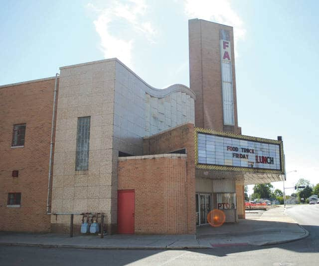 Whitney Vickers | Fairborn Herald The Fairborn Theatre on Broad Street has been vacant for a number of years. Rumors circulated throughout the community that the city is seeking to tear the theatre down. However, City Manager Rob Anderson used Facebook live as a platform to assure citizens that the city is actually seeking to breathe new life into the space.